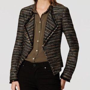 NWOT LOFT fringe tweed blazer
